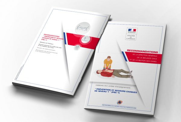 Guides secourisme Sécurité civile. Portfolio de Bruno Lemaistre, graphiste freelance à Paris