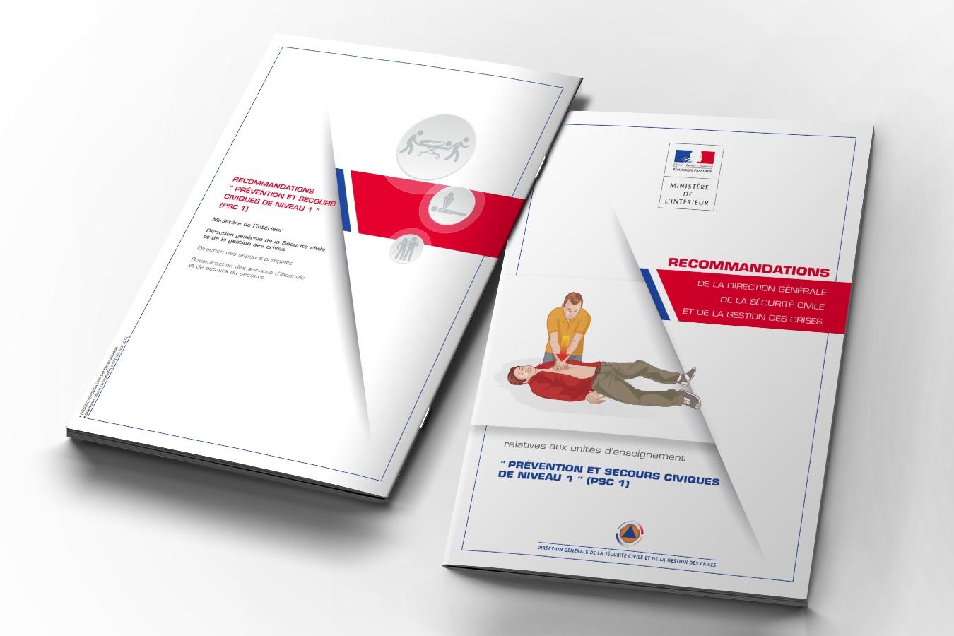 Guides secourisme Sécurité civile. Portfolio de Bruno Lemaistre, graphiste freelance à Paris