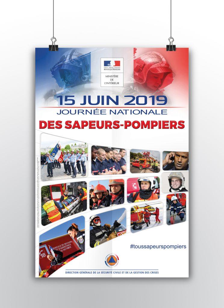 Affiche de la journée des sapeurs-pompiers 2019.