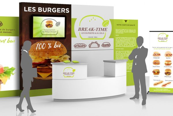 Break-Time Pizz & Burger. Portfolio de Bruno Lemaistre, graphiste freelance à Paris