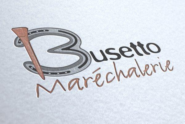 Identité visuelle Busetto Maréchalerie. Portfolio de Bruno Lemaistre, graphiste freelance à Paris